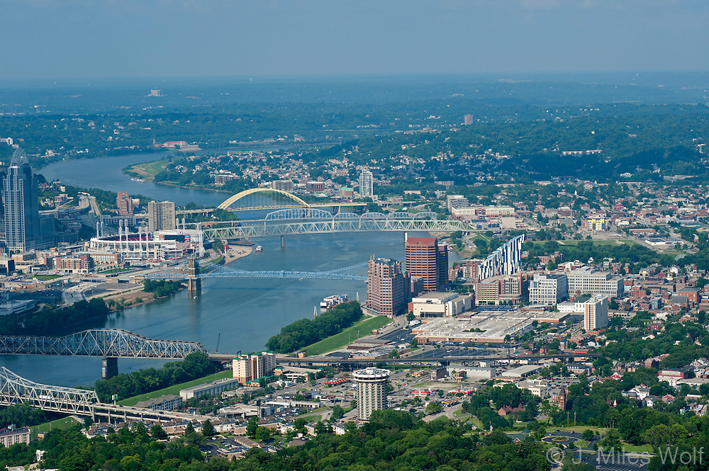 Cincinnati Skyline and Ohio River