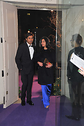 ADITYA MITTAL and his wife MEGHA MITTAL owner of German fashion company Escadaat The Surrealist Ball in aid of the NSPCC in association with Harpers Bazaar magazine held at the Banqueting House, Whitehall, London on 17th March 2011.
