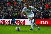 Leeds United midfielder Jack Harrison (22) passes the ball during the EFL Sky Bet Championship match between Leeds United and Hull City at Elland Road, Leeds, England on 10 December 2019.
