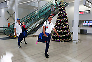 England Arrive at Adelaide Airport - 28 Nov 2017