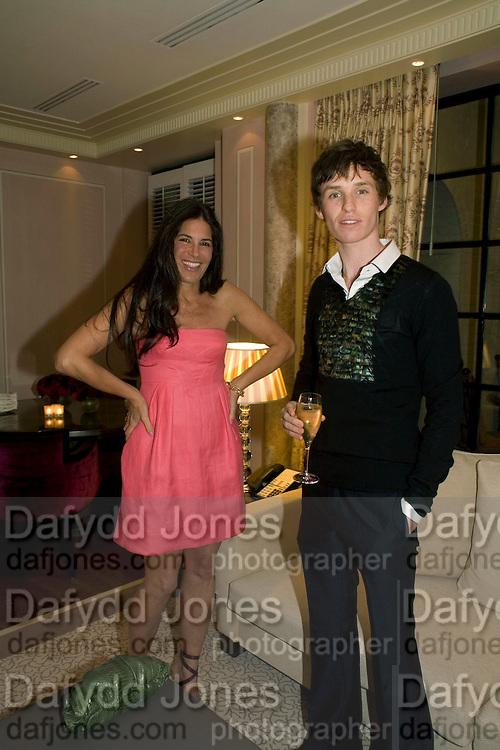 ELIZABETH SALTZMAN AND EDDIE REDMAYNE, Dinner hosted by Elizabeth Saltzman for Donatella Versace. Claridge's Hotel, Brook Street, Mayfair, London. 11 March 2008.  *** Local Caption *** -DO NOT ARCHIVE-© Copyright Photograph by Dafydd Jones. 248 Clapham Rd. London SW9 0PZ. Tel 0207 820 0771. www.dafjones.com.