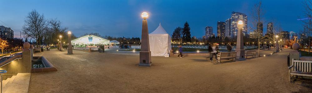180 pano, Downtown Park, Bellevue,