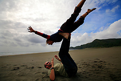 NEW ZEALAND PIHA BEACH 12DEC07 - Fun on Piha Beach, West Coast of northern Island, New Zealand...jre/Photo by Jiri Rezac..© Jiri Rezac 2007..Contact: +44 (0) 7050 110 417.Mobile:  +44 (0) 7801 337 683.Office:  +44 (0) 20 8968 9635..Email:   jiri@jirirezac.com.Web:    www.jirirezac.com..© All images Jiri Rezac 2007 - All rights reserved.