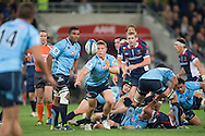 Michael Hooper (Waratahs) passing during the Round 15 match of the 2013 Super Rugby Championship between RaboDirect Rebels vs HSBC Waratahs at AAMI Park, Melbourne, Victoria, Australia. 24/05/0213. Photo By Lucas Wroe
