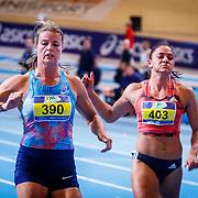 NLD/Apeldoorn/20180217 - NK Indoor Athletiek 2018, 60 meter dames, Dafne Schippers en Naomi Sedney