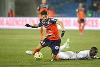 Paul LASNE - 07.02.2015 - Montpellier / Lille - 24eme journee de Ligue 1<br /> Photo : Andre Delon / Icon Sport