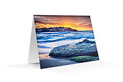"Photo Art Greeting Card - Sydney Coastal Collection (Bondi Beach). Printed in Sydney on quality matte card stock, 174 x 123mm, blank inside, envelope included, packaged in sealed poly bag. Click ""Add to Cart"" to choose your own mix of 5, 10, or 20 cards from this collection."