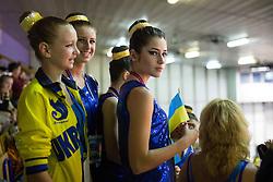 Girls from Ukraine at ECU European Cheerleading Championships 2015 on June 27th 2015, in Hala Tivoli, Ljubljana. Photo by Matic Klansek Velej / Sportida