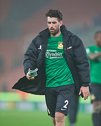 STOKE-ON-TRENT, ENGLAND - Sunday, January 4, 2015: Wrexham's goal-scorer Mark Carrington walks off dejected as his side lose 3-1 to Stoke City during the FA Cup 3rd Round match at the Britannia Stadium. (Pic by David Rawcliffe/Propaganda)