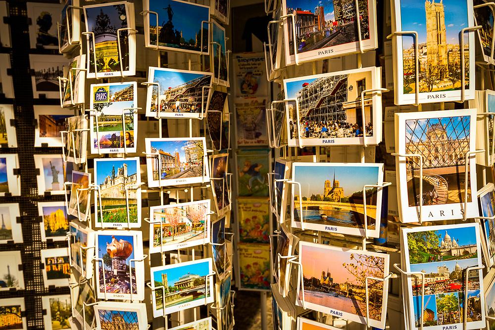 Paris, France postcard shop