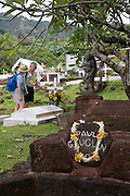 Paul Gauguin's grave, Atuona, Hiva Oa, Marquesa Islands, French Polynesia<br />