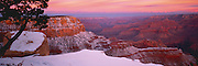 Dawn from Grandeur Point on a winter morning in Grand Canyon National Park, Arizona