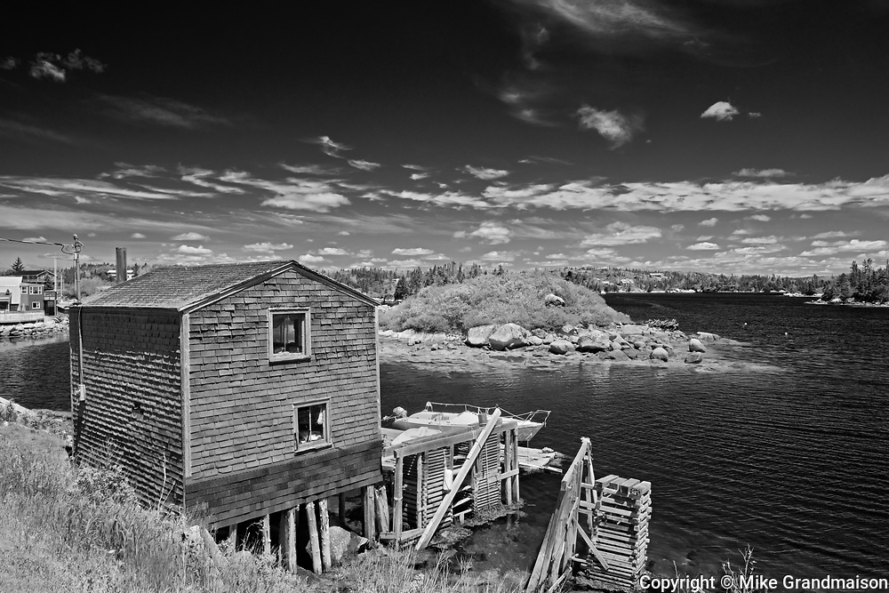 FIshing village on the Atlantic Ocean, Blue Rocks, Nova Scotia, Canada
