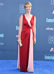 Celebrities arrive on the red carpet for the 22nd Annual Critics' Choice Awards held at Barker Hanger in Santa Monica. 11 Dec 2016 Pictured: Cynthia Nixon. Photo credit: American Foto Features / MEGA TheMegaAgency.com +1 888 505 6342