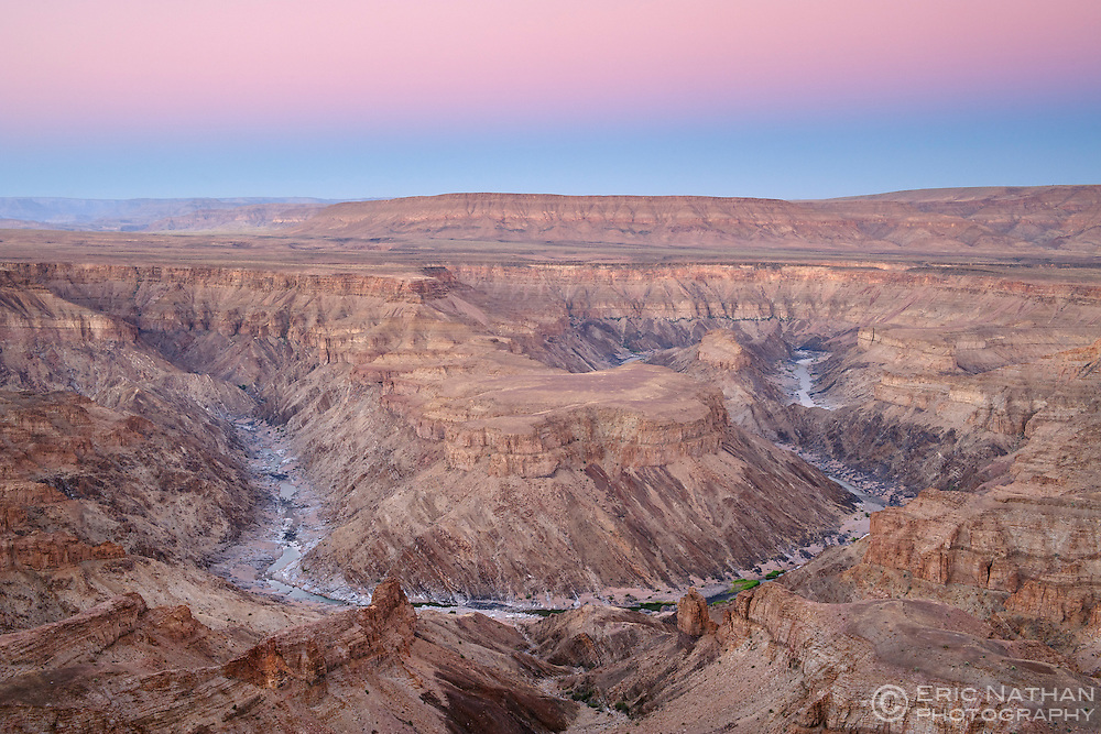 Fish River Canyon in southern Namibia at dawn.