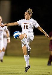 Virginia Cavaliers F/M Kelly Quinn (10)..The Virginia Cavaliers women's soccer team faced the Florida State Seminoles at the Klockner Stadium in Charlottesville, VA on October 4, 2007.