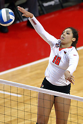 18 November 2016:  Lexi Varga during an NCAA women's volleyball match between the Northern Iowa Panthers and the Illinois State Redbirds at Redbird Arena in Normal IL (Photo by Alan Look)