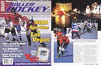 1996: January Roller Hockey Magazine tearsheet. NIHA tournament in Las Vegas action photos.