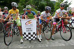 Vrecer Robert (SLO) of Perutnina Ptuj, Koren Kristjan (SLO) of Liquigas, Ulissi Diego (ITA) of Lampre and Rajsp Andrej (SLO) of Radenska during 3nd Stage (170,6 km) at 18th Tour de Slovenie 2011, on June 18, 2011, in Slovenia. (Photo by Urban Urbanc / Sportida)