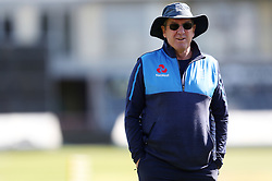 England coach Trevor Bayliss during the nets session at the Bristol County Ground.