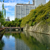"""Historic Description of Shizuoka, Japan <br /> The area now known as Shizuoka in southcentral Japan has been populated since ancient times. However, it first became significant during the Nara period (710 – 794) when it was called Suruga Province. In the Kamakura period (1185 – 1333), the land was ruled by the Hōjō clan and subsequently the Imagawa clan until the end of the 16th century. Then it was dominated by the Tokugawa shogunate from 1602 until 1868. In 1871, it became the Shizuoka Prefecture and Shizuoka was given city status in 1889. The name means """"calm hills."""" Today, Shizuoka-shi is the capital of Shizuoka Prefecture with 700,000 residents. In 2003, it merged with neighboring Shimizu City, becoming one of Japan's largest municipalities with an area encompassing 545 square miles. Across from the inner moat of Sunpu Castle are the headquarters for Shizuoka Prefectural. On the left are the main offices with a spectacular free observation platform on the 21st floor. On the right is the Shizuoka Prefectural Office Annex."""