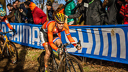 Eddy VAN IJZENDOORN (33,NED), 4th lap at Men UCI CX World Championships - Hoogerheide, The Netherlands - 2nd February 2014 - Photo by Pim Nijland / Peloton Photos