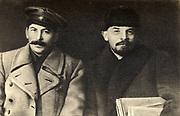 Vladimir Lenin and Joseph Stalin together in 1919