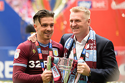 May 27, 2019 - London, England, United Kingdom - Jack Grealish (10) of Aston Villa with Aston Villa Manager Dean Smith during the Sky Bet Championship match between Aston Villa and Derby County at Wembley Stadium, London on Monday 27th May 2019. (Credit: Jon Hobley | MI News) (Credit Image: © Mi News/NurPhoto via ZUMA Press)