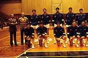 Qualificazioni Mondiali, Durazzo, 28 novembre 1984 Italia - Albania<br /> blasone, gamba, bosa, magnifico, costa, vecchiato, solfrini, sacchetti, riva