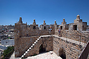 Israel, Jerusalem, Old City, The Catwalk on the walls at Damascus Gate