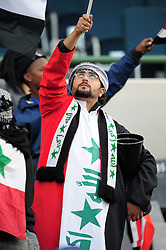 Iraq Supporter  during the soccer match of the 2009 Confederations Cup between Spain and Iraq played at Vodacom Park,Bloemfontein,South Africa on 17 June 2009.  Photo: Gerhard Steenkamp/Superimage Media.