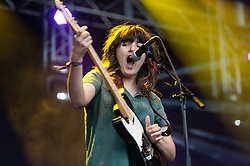 © Licensed to London News Pictures. 31/05/2014. Barcelona, Spain.   Courtney Barnett performing live at Primavera Sound festival Day 4.   Courtney Barnett is an Australian singer-songwriter and guitarist. Primavera Sound, or simply Primavera, is an annual music festival that takes place in Barcelona, Spain in late May/June within the Parc del Fòrum leisure site. Photo credit : Richard Isaac/LNP