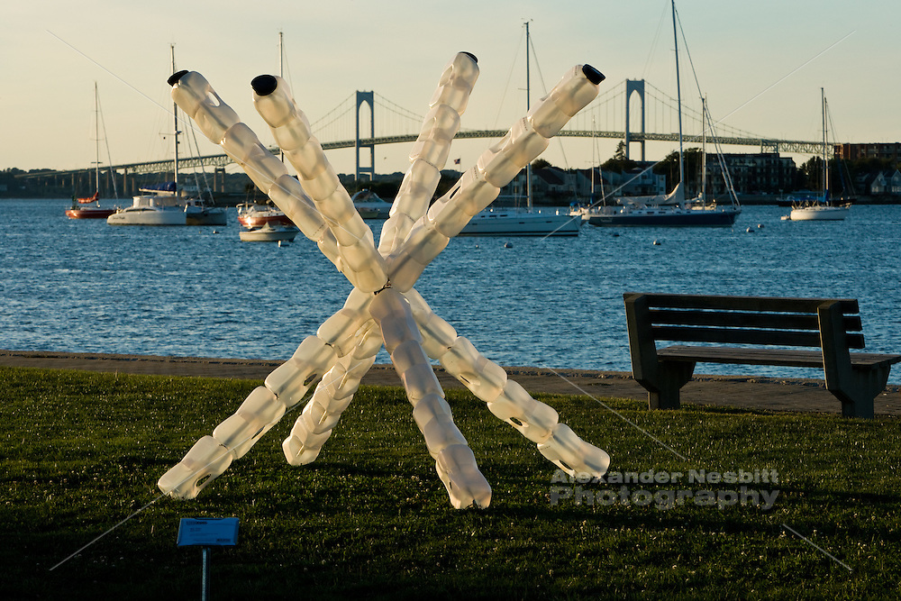 """Newport, RI Sept. 2010 - Public art on dispay during the """"Viewport"""" event in King Park on Newport Harbor held by public art organization Project One."""