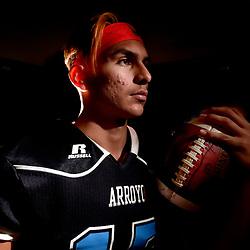Arroyo quarterback Ernesto Camacho at Arroyo High School in El Monte , Calif., on Tuesday, Nov. 29, 2016.