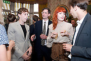 JOHNNY BORRELL; STUART HAMMOND; FLORENCE WELCH;, Dylan Jones hosts a party for Brett Easton Ellis and his new book.- Imperial Bedrooms. Mark's Club. London. 15 July 2010.  -DO NOT ARCHIVE-© Copyright Photograph by Dafydd Jones. 248 Clapham Rd. London SW9 0PZ. Tel 0207 820 0771. www.dafjones.com.