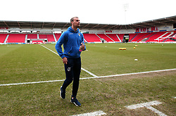 Sam Slocombe of Bristol Rovers arrives at The Keepmoat Stadium for his side's fixture against Doncaster Rovers - Mandatory by-line: Robbie Stephenson/JMP - 27/01/2018 - FOOTBALL - The Keepmoat Stadium - Doncaster, England - Doncaster Rovers v Bristol Rovers - Sky Bet League One