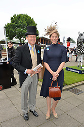 LORD & LADY COE at the Investec Derby at Epsom Racecourse, Epsom, Surrey on 4th June 2016.