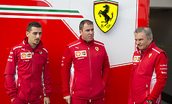 October 21, 2018 - Austin, USA - Members of the Scuderia Ferrari team talk before the start of the Formula 1 U.S. Grand Prix at the Circuit of the Americas in Austin, Texas on Sunday, Oct. 21, 2018. (Credit Image: © Scott Coleman/ZUMA Wire)
