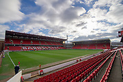 A General view inside Oakwell Stadium prior to the EFL Sky Bet League 1 match between Barnsley and Scunthorpe United at Oakwell, Barnsley, England on 2 February 2019.