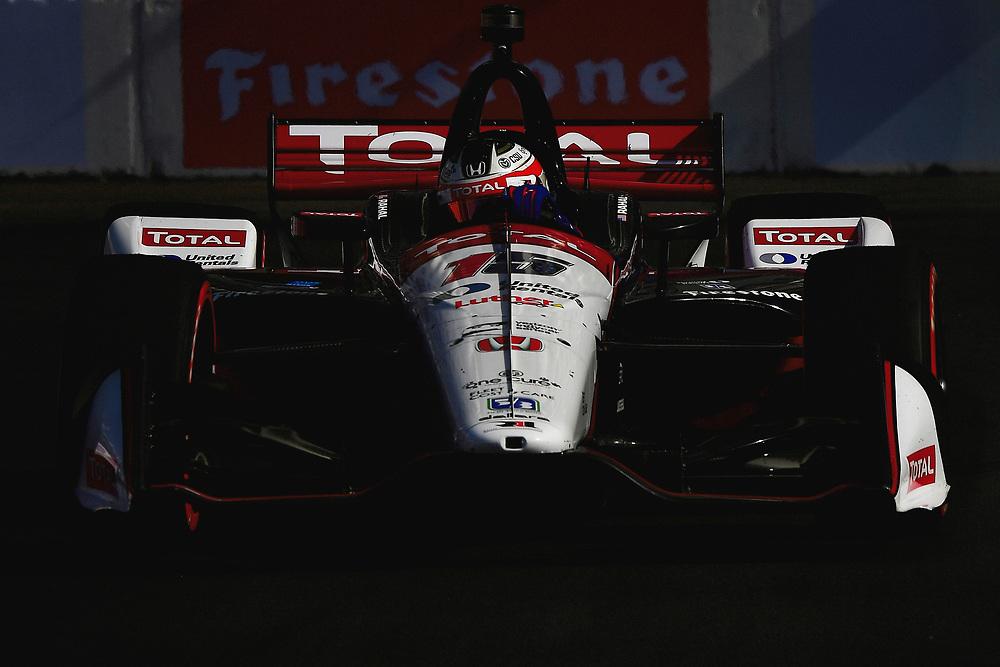 Graham Rahal, Rahal Letterman Lanigan Racing Honda<br /> Sunday 15 April 2018<br /> Toyota Grand Prix of Long Beach<br /> Verizon IndyCar Series<br /> Streets of Long Beach, California USA<br /> World Copyright: Scott R LePage<br /> LAT Images