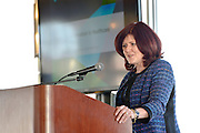 Cognizant CFO Karen McLoughlin at networking event and seminar on Women Empowerment, longevity and resiliency in the workplace, The Liberty House, Jersey City, NJ 4/14/16.