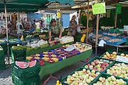 Marktstand, Jena, Thüringen, Deutschland   market stand, Jena, Thuringia, Germany