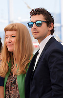 director Andrea Arnold and actor Shia LaBeouf at the American Honey film photo call at the 69th Cannes Film Festival Sunday 15th May 2016, Cannes, France. Photography: Doreen Kennedy