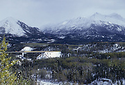 Alaska Railroad, Railroad, train, Fall, Autumn, Snow, Denali National Park, Alaska