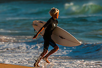 Kids surfing, Manly Beach, Sydney, New South Wales, Australia