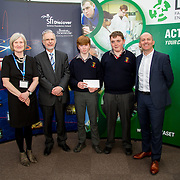 27.04.2016.          <br />  Kalin Foy and Ciara Coyle win SciFest@LIT<br /> Kalin Foy and Ciara Coyle from Colaiste Chiarain Croom to represent Limerick at Ireland's largest science competition.<br /> <br /> John The Baptist Community School students, Patrick Gleeson and Cormac Hanly's project, An investigation into horse mortality in Ireland due to the consumption of hypoglycin A in sycamore seeds, was highly commended in the Life Sciences Category.  Patrick Gleeson and Cormac Hanly are pictured with George Porter, SciFest and Brian Aherne, Intel<br /> <br /> Of the over 110 projects exhibited at SciFest@LIT 2016, the top prize on the day went to Kalin Foy and Ciara Coyle from Colaiste Chiarain Croom for their project, 'To design and manufacture wireless trailer lights'. The runner-up prize went to a team from John the Baptist Community School, Hospital with their project on 'Educating the Youth of Ireland about Farm Safety'. Picture: Fusionshooters