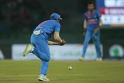 March 8, 2018 - Colombo, Sri Lanka - Indian cricketer Suresh Raina drops a catch during the 2nd T20 cricket match of NIDAHAS Trophy between India  and Bangladesh at R Premadasa cricket ground, Colombo, Sri Lanka on Thursday 8 March 2018. (Credit Image: © Tharaka Basnayaka/NurPhoto via ZUMA Press)