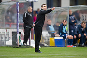 14th September 2019; Dens Park, Dundee, Scotland; Scottish Championship, Dundee Football Club versus Alloa Athletic; Alloa Athletic manager Peter Grant