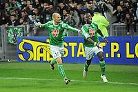 Joie Renaud COHADE / Max Alain GRADEL - 21.12.2014 - Saint Etienne / Evian Thonon - 19eme journee de Ligue 1<br />Photo : Jean Paul Thomas / Icon Sport