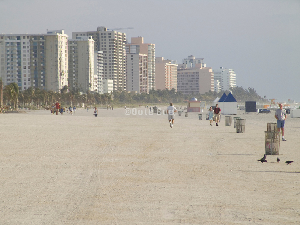 Miami Beach seen from South beach early morning
